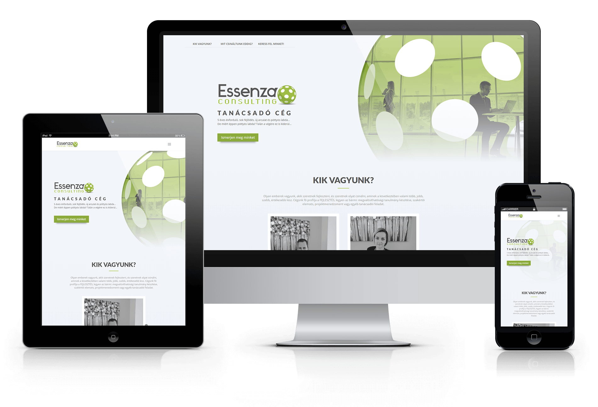 Essenza Consulting weboldal