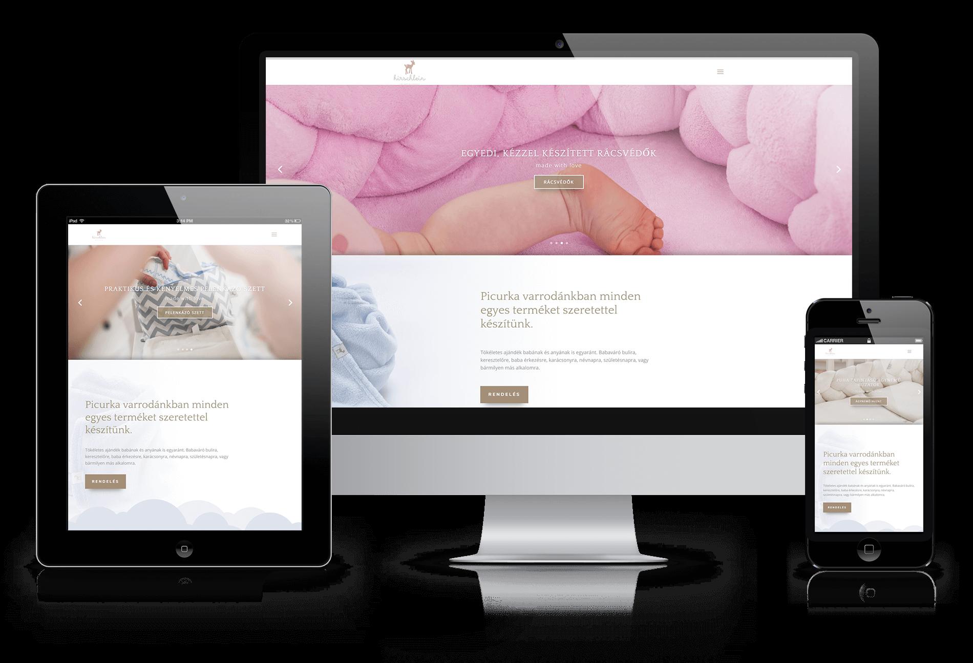 Hirschlein Baby weboldal