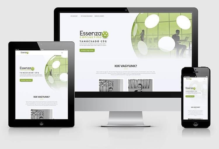 Essenza weboldal